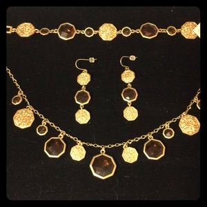 lia sophia necklace bracelet and earring set